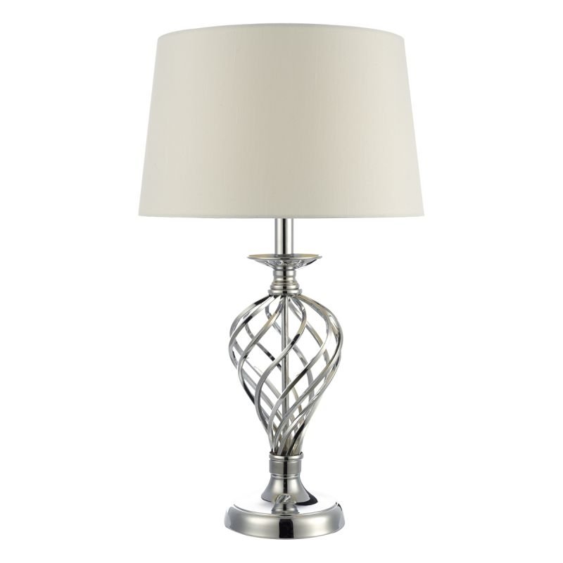 Wisebuys-IFF4350 - Iffley - Big Ivory Shade with Polished Chrome Touch Lamp