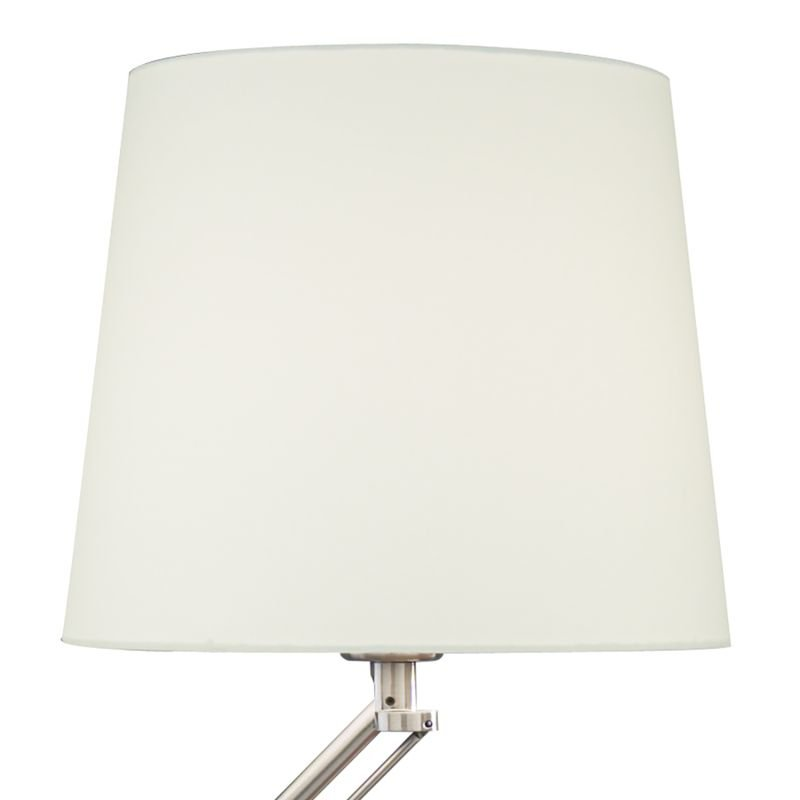 Dar-INF4046 - Infusion - Satin Chrome with White Shade Table Lamp