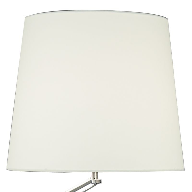 Dar-INF4946 - Infusion - Satin Chrome with White Shade Floor Lamp