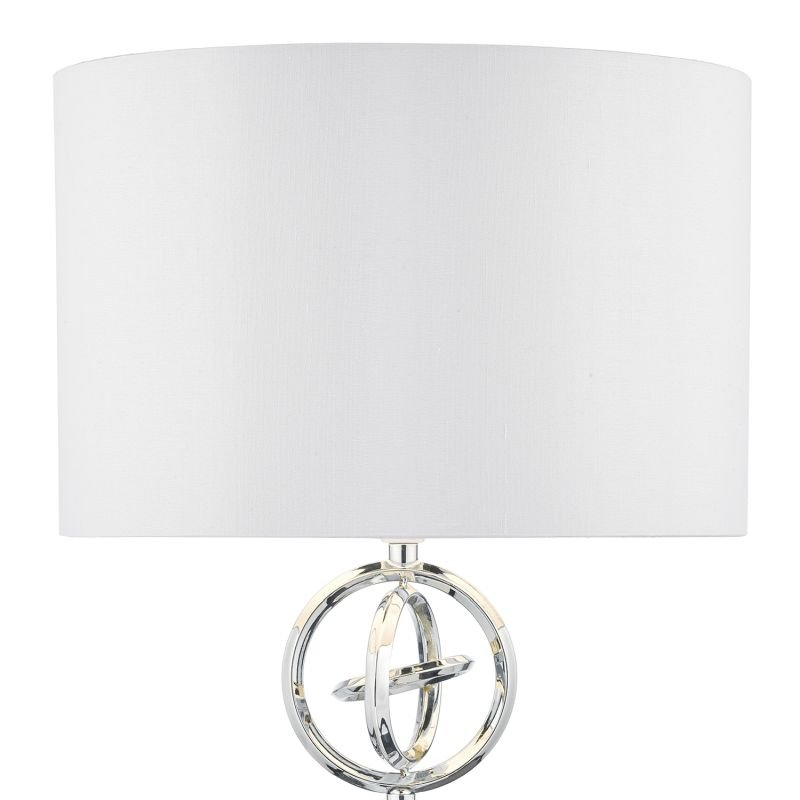 Dar-INN4250 - Innsbruck - Polished Chrome with Ivory Shade Table Lamp
