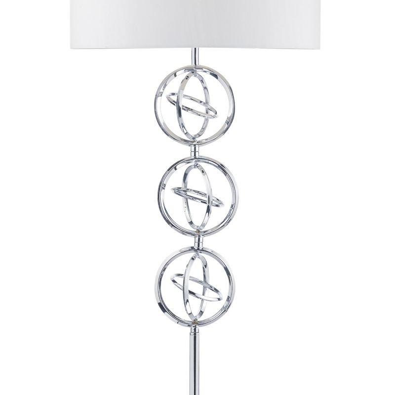Dar-INN4950 - Innsbruck - Polished Chrome with Ivory Shade Floor Lamp
