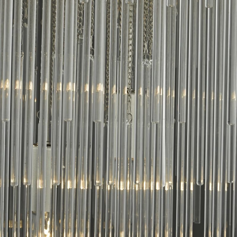 Dar-ISL3450 - Isla - Chrome & Clear Glass Rods 7 Light Pendant