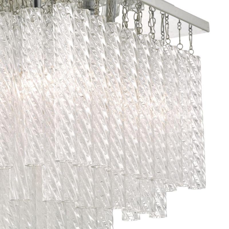 Dar-ISU0450 - Isumi - Bathroom Textured Glass 4 Light Ceiling Lamp