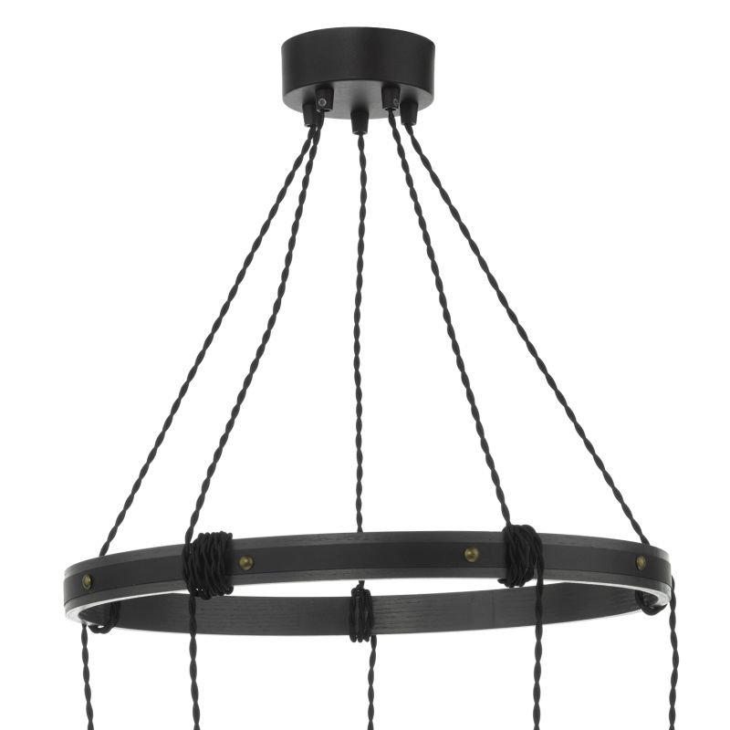 Dar-IVA0531 - Ivan - Rustic Wood Effect Ring 5 Light Centre Fitting