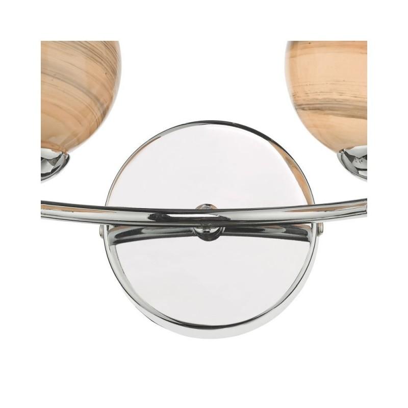 Dar-IZZ0950-07 - Izzy - Marble Glass & Chrome 2 Light Wall Lamp