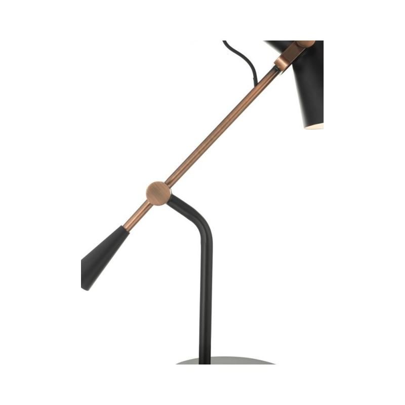 Dar-JAC4064 - Jack - Matt Black & Antique Copper Desk Lamp