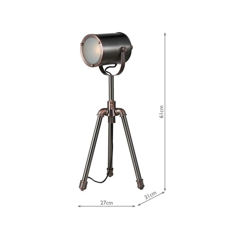 Wisebuys-JAK4021 - Jake - Antique Silver & Copper Table Lamp
