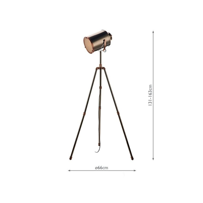 Wisebuys-JAK4921 - Jake - Antique Silver & Copper Floor Lamp