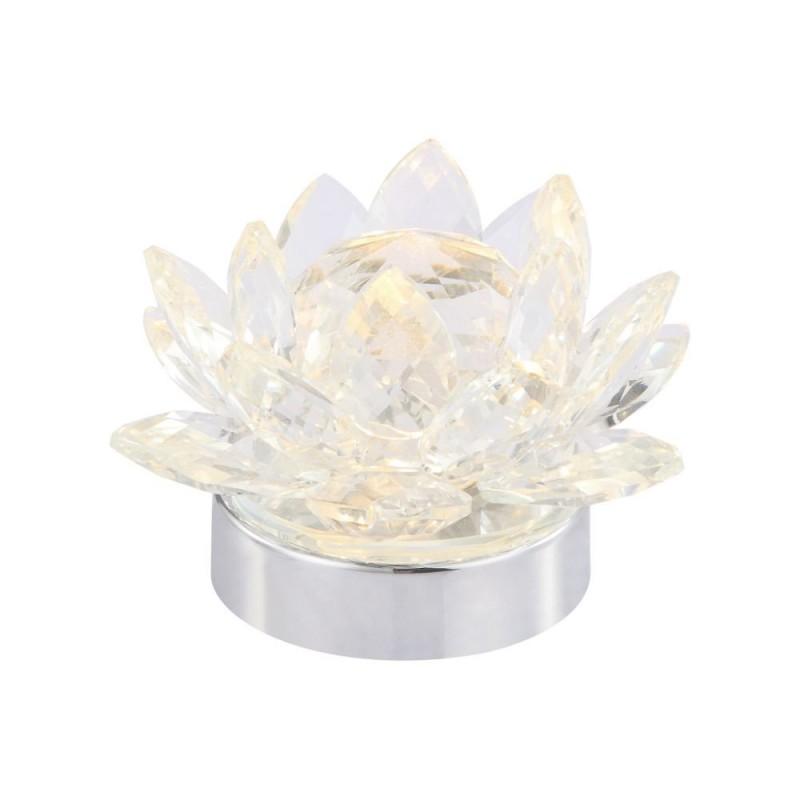 Wisebuys-JAS4050 - Jasmine - LED Clear Glass & Chrome Table Lamp