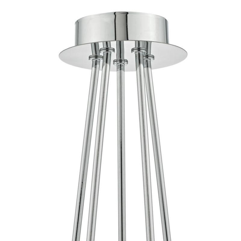Dar-JEN5450 - Jensine - Faceted Glass with Chrome 5 Light Centre Fitting