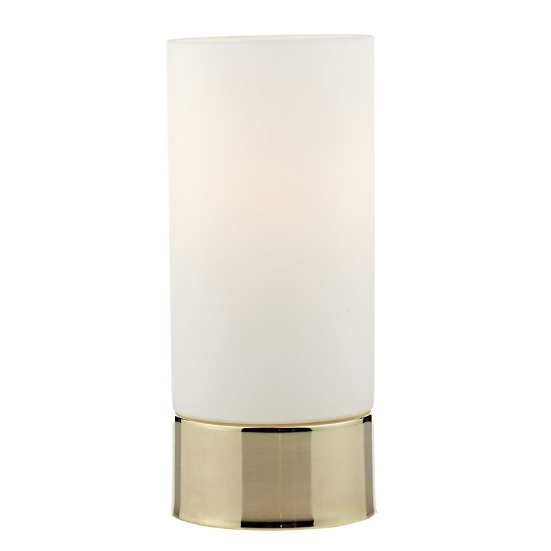Wisebuys-JOT4035 - Jot - Opal Glass with Polished Gold Touch Lamp