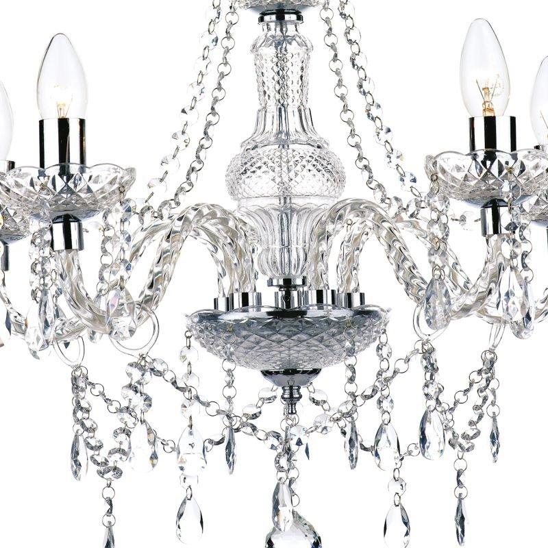 Dar-KAT0550 - Katie - Clear Acrylic Glass 5 Light Chandelier