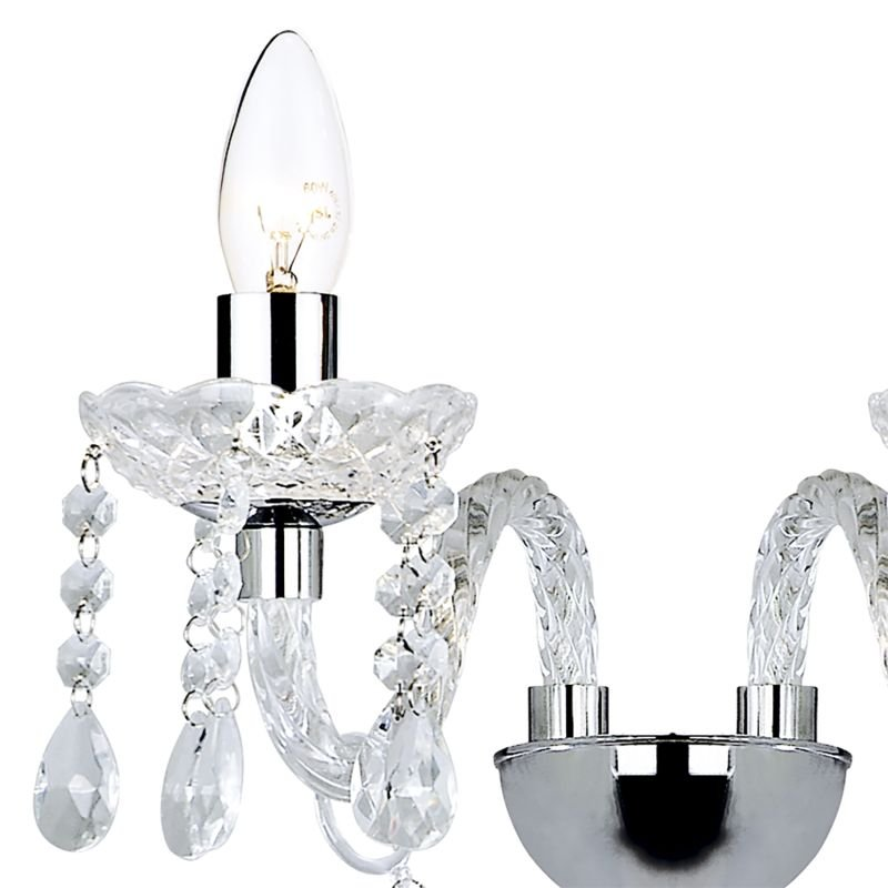 Dar-KAT0950 - Katie - Clear Acrylic Glass 2 Light Wall Lamp
