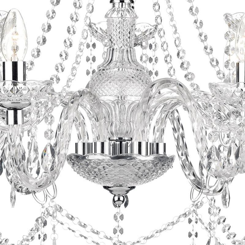 Dar-KAT1350 - Katie - Clear Acrylic Glass 9 Light Chandelier
