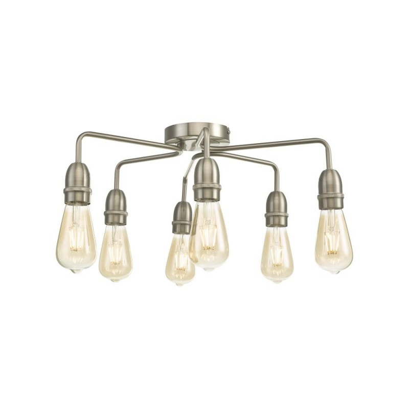 Wisebuys-KIE0646 - Kiefer - Satin Chrome 6 Light Semi Flush