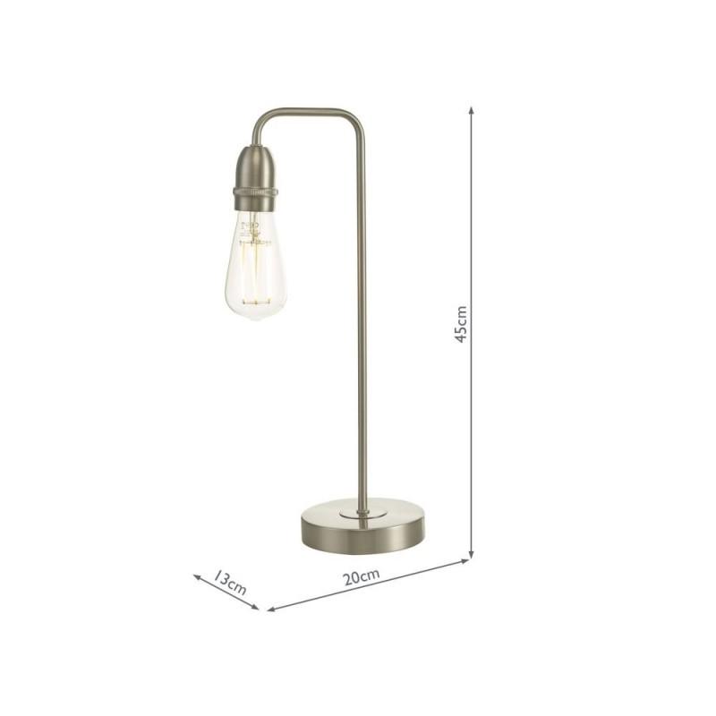 Wisebuys-KIE4246 - Kiefer - Satin Chrome Table Lamp