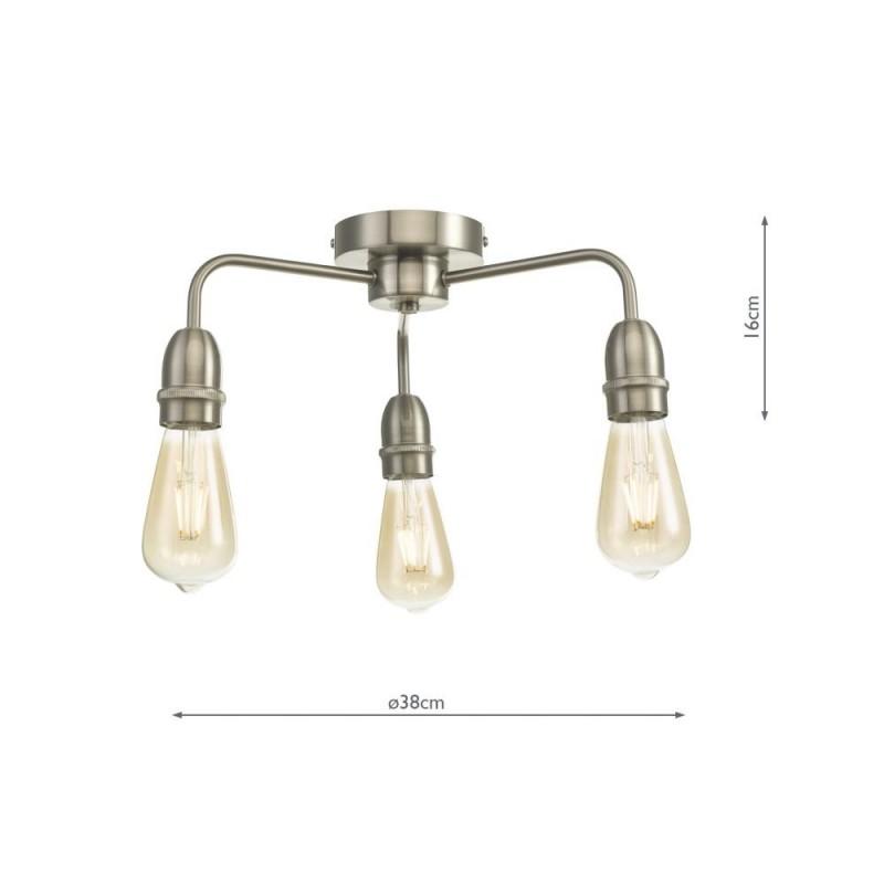 Wisebuys-KIE5346 - Kiefer - Satin Chrome 3 Light Semi Flush