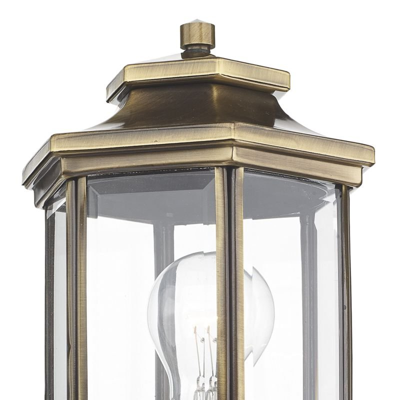 Dar-LAD1675 - Ladbroke - Outdoor Antique Brass Lantern Wall Lamp