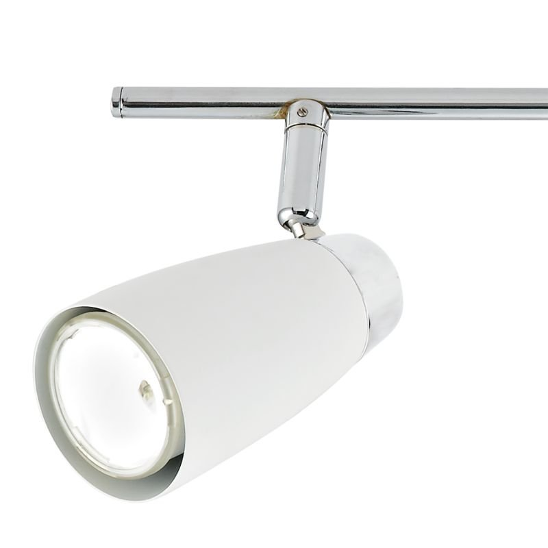 Dar-LOF842 - Loft - White and Polished Chrome 4 Spotlights