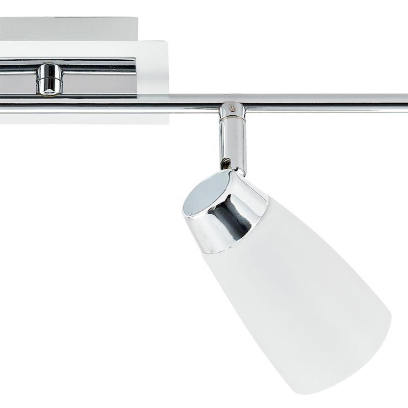 Dar-LOF842 - Loft - White and Polished Chrome 4 Spotlights