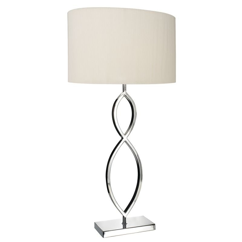 Wisebuys-LUI4150 - Luigi - Oval Cream Shade & Polished Chrome Table Lamp