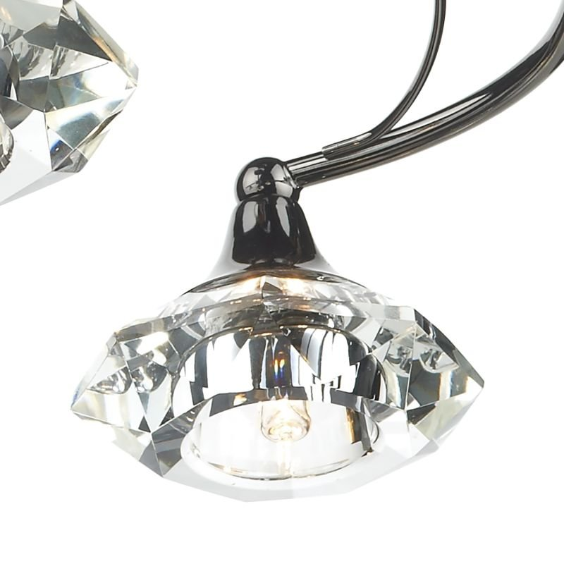 Dar-LUT0467 - Luther - Decorative Black Chrome with Crystal 4 Light Centre Fitting