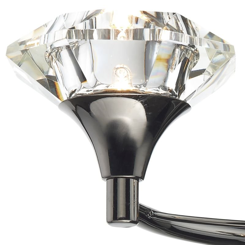Dar-LUT0967 - Luther - Decorative Black Chrome with Crystal 2 Light Wall Lamp