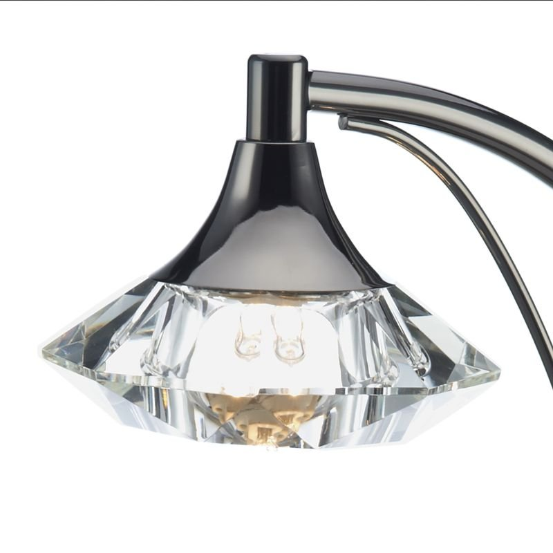 Dar-LUT4167 - Luther - Decorative Black Chrome with Crystal Table Lamp