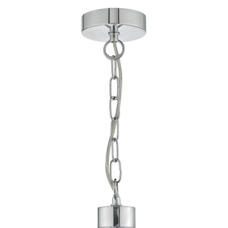 Dar-LYO0550 - Lyon -  Decorative Polished Chrome 5 Light Centre Fitting