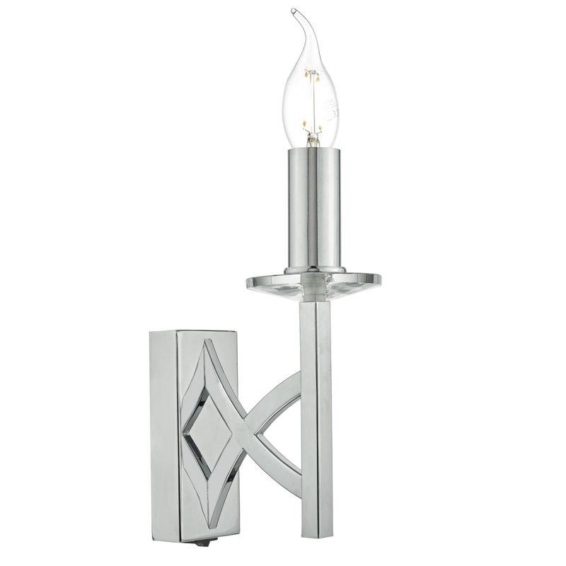 Dar-LYO0750 - Lyon -  Decorative Polished Chrome Wall Lamp