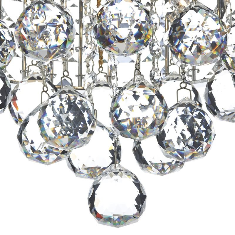Dar-MAT5350 - Matrix - Crystal with Chrome 3 Light Ceiling Lamp