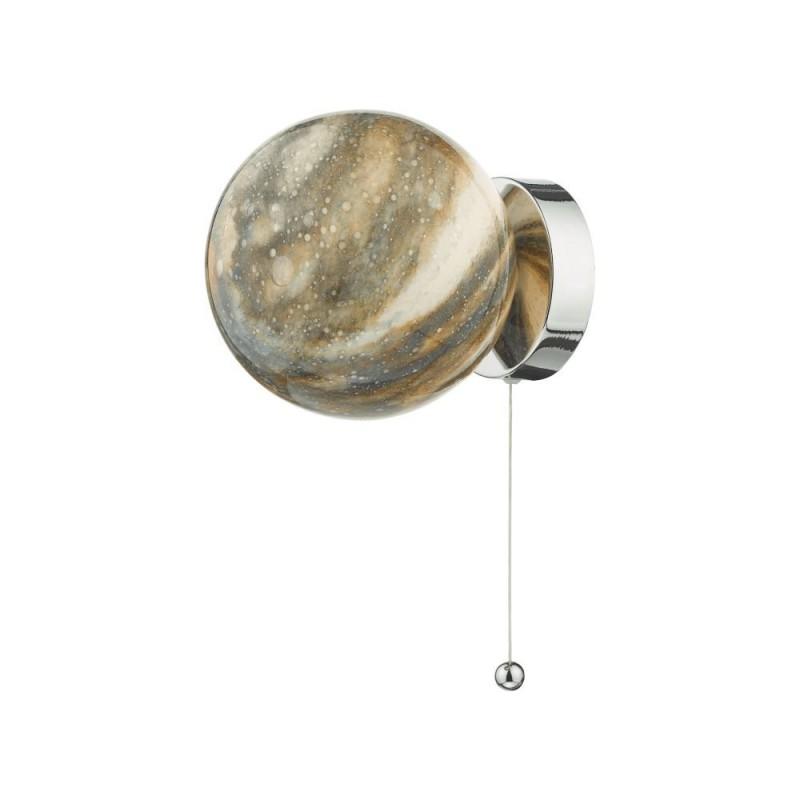 Dar-MIK0750 - Mikara - Marble Glass & Chrome Wall Lamp