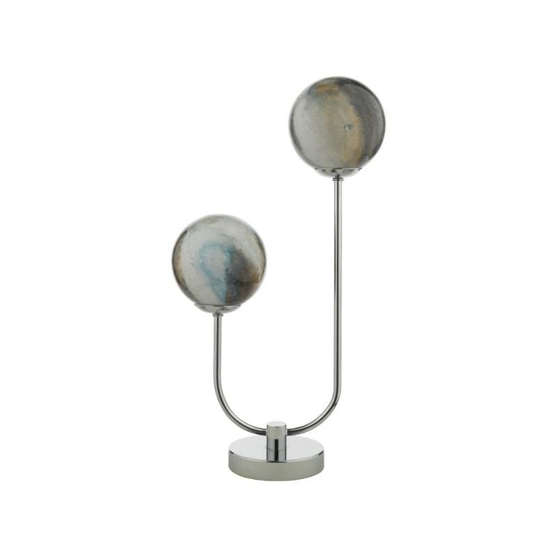 Dar-MIK4250 - Mikara - Marble Glass & Chrome 2 Light Table Lamp