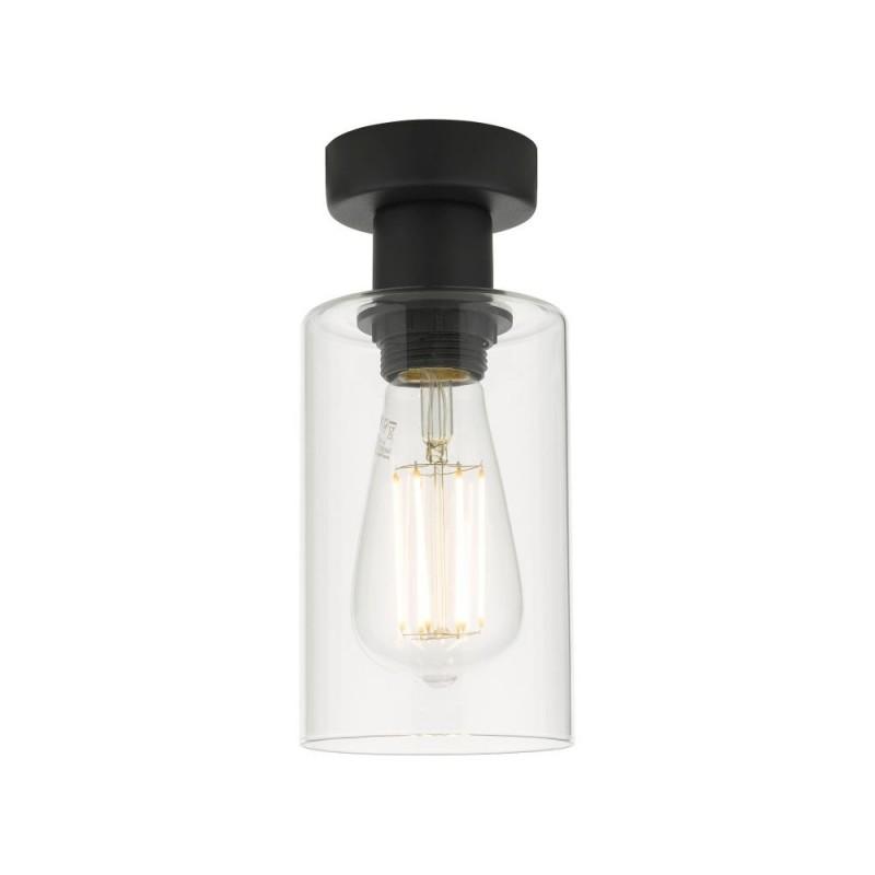 Wisebuys-MIU0122 - Miu - Clear Glass & Black Single Ceiling Lamp