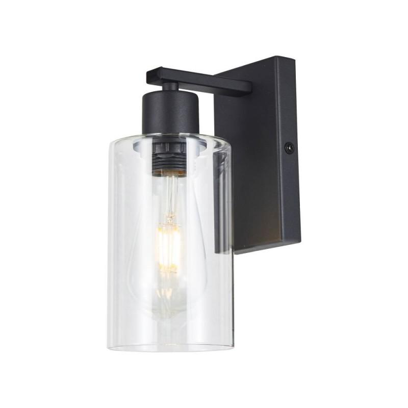 Wisebuys-MIU0722 - Miu - Clear Glass & Black Single Wall Lamp