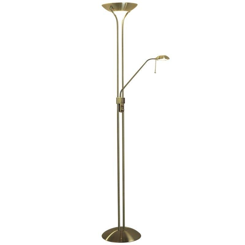 Wisebuys-MON4975 - Montana - Antique Brass Mother&Child Floor Lamp