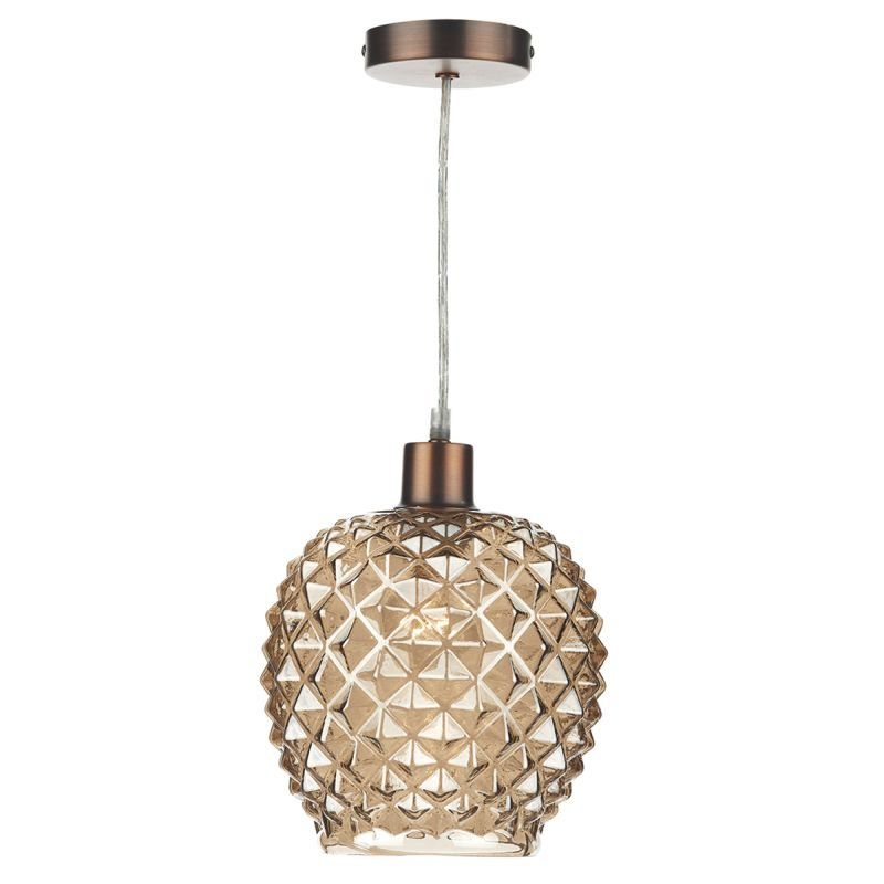 Dar-MOS6535 - Mosaic - Champagne Glass Shade for Hanging Pendant