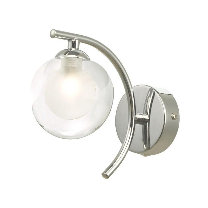 Wisebuys-NAK0750-04 - Nakita - Double Glass & Chrome Wall Lamp