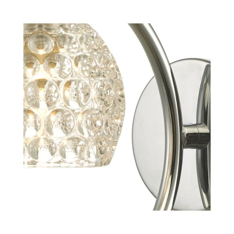 Wisebuys-NAK0750-06 - Nakita - Dimpled Glass & Chrome Wall Lamp