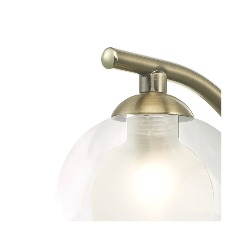 Wisebuys-NAK0775-04 - Nakita - Double Glass & Antique Brass Wall Lamp