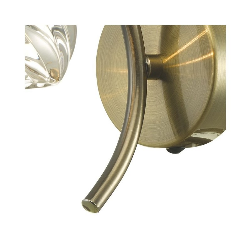 Wisebuys-NAK0775-05 - Nakita - Twisted Glass & Antique Brass Wall Lamp