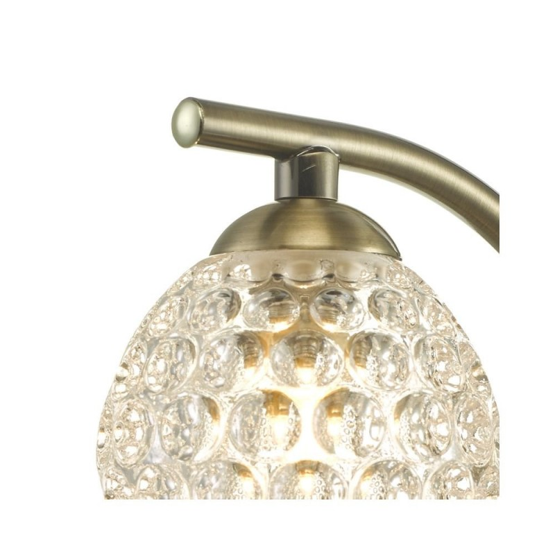 Wisebuys-NAK0775-06 - Nakita - Dimpled Glass & Antique Brass Wall Lamp