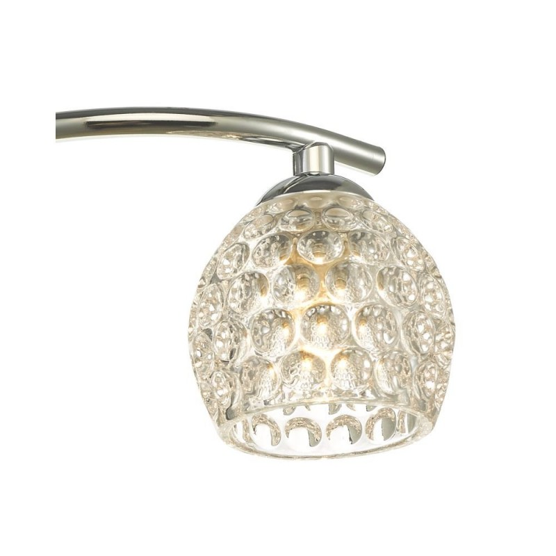 Wisebuys-NAK5350-06 - Nakita - Dimpled Glass & Chrome 3 Light Semi Flush