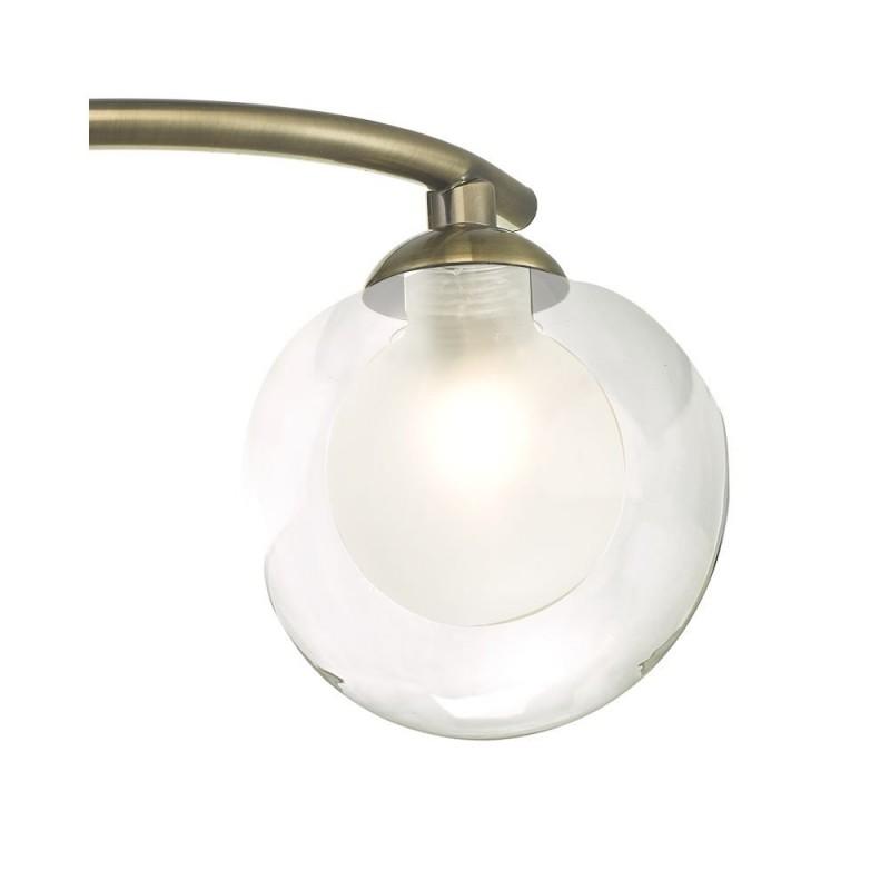 Wisebuys-NAK5375-04 - Nakita - Double Glass & Antique Brass 3 Light Semi Flush