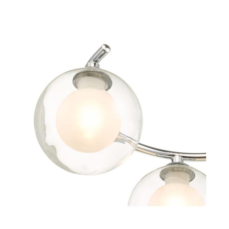 Wisebuys-NAK6450-04 - Nakita - Double Glass & Chrome 6 Light Semi Flush