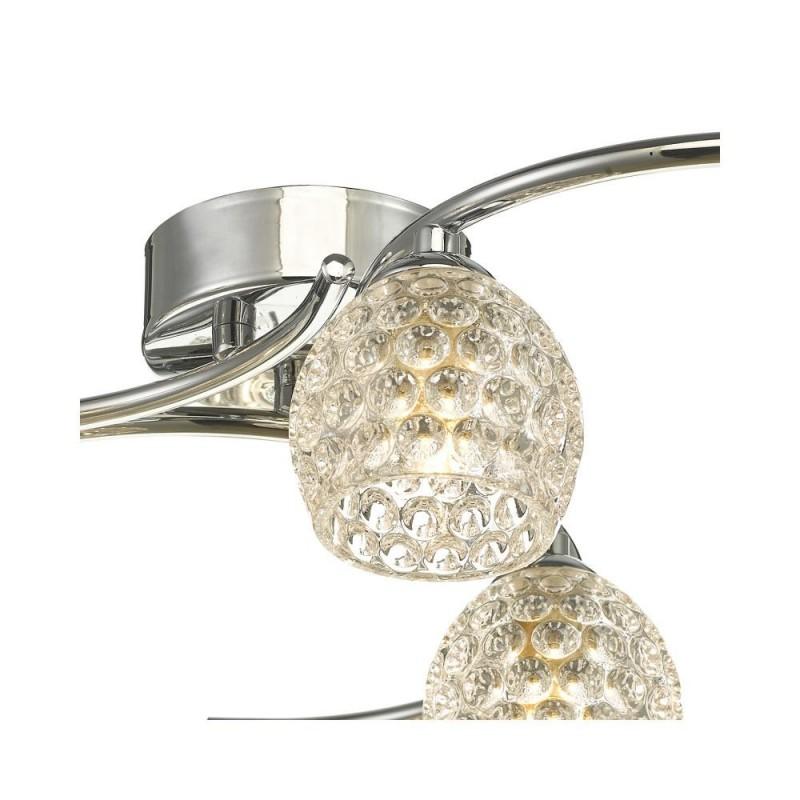 Wisebuys-NAK6450-06 - Nakita - Dimpled Glass & Chrome 6 Light Semi Flush