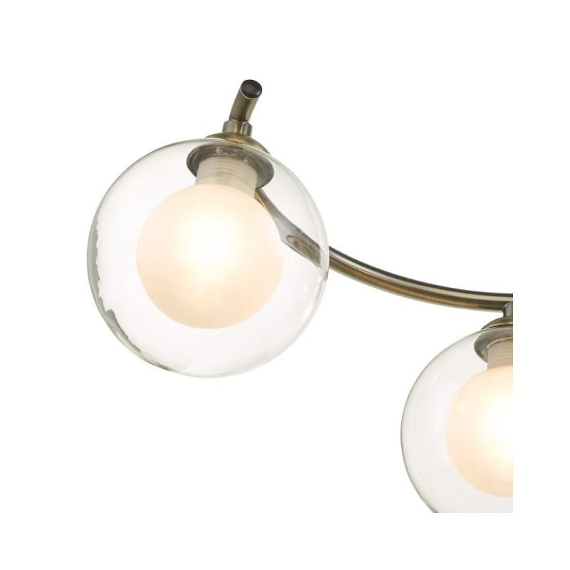 Wisebuys-NAK6475-04 - Nakita - Double Glass & Antique Brass 6 Light Semi Flush