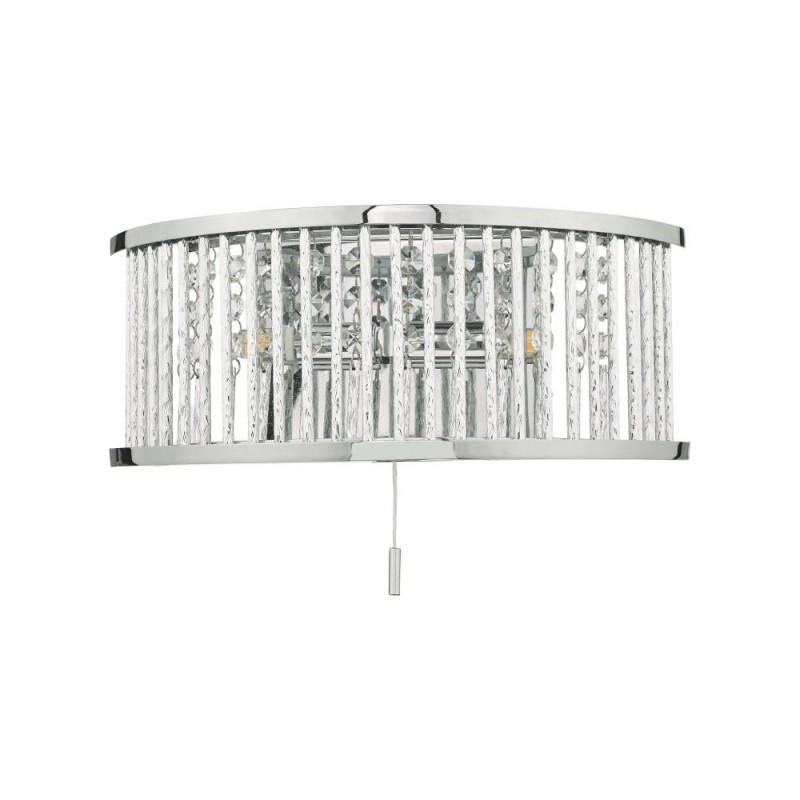 Dar-NAN0968 - Nantes - Carved Aluminium Rods Wall Lamp