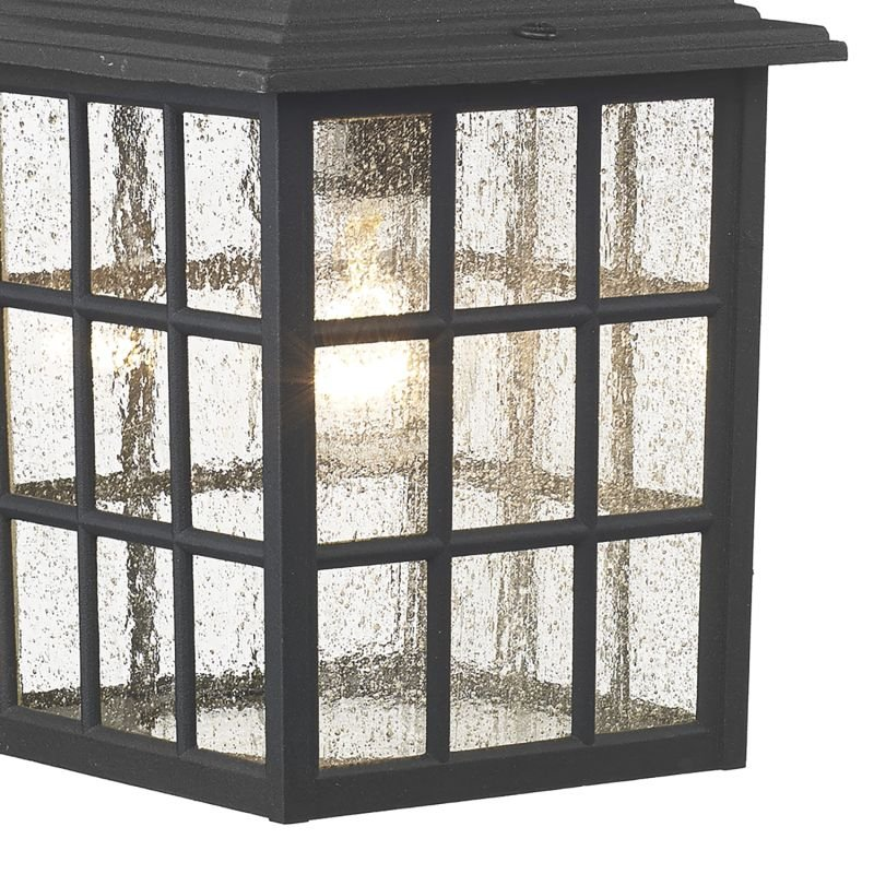 Dar-NOR1522 - Norfolk - Outdoor Black Lantern Wall Lamp