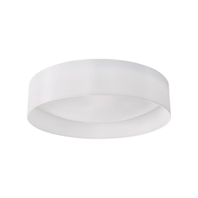 Dar-NYS482 - Nysa - White Faux Silk & White Diffuser 3 Light Flush